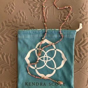 Kendra Scott Bethany Necklace - Pink Rhodonite